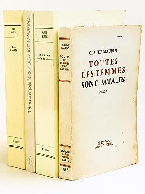 Lot de 4 titres dédicacés par l'auteur ] L'éternité parfois -...