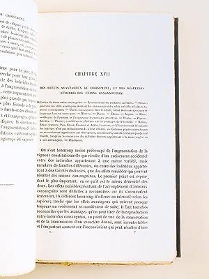 De la Variation des Animaux et des Plantes à l'Etat domestique (2 Tomes - Complet): ...