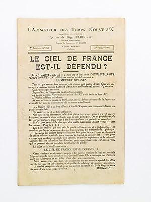 Le ciel de France est-il défendu ? ( L'Animateur des Temps Nouveaux N° 260 du 27 f&...