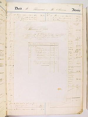 Grand Livre de Compte manuscrit de Claverie, Boulanger à Génissac [ 1854-1865 ]: ...