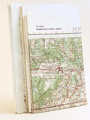 Lot de 13 cartes de l'Algérie annotées,: CALLEN, Abbé Jean