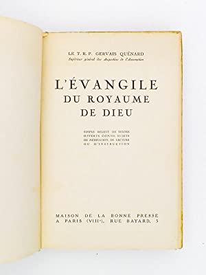 L'évangile du Royaume de Dieu - simples relevés de textes offerts comme sujets ...
