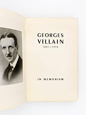 Georges Villain , 1881-1938. In Memoriam.: VILLAIN, Mme Georges