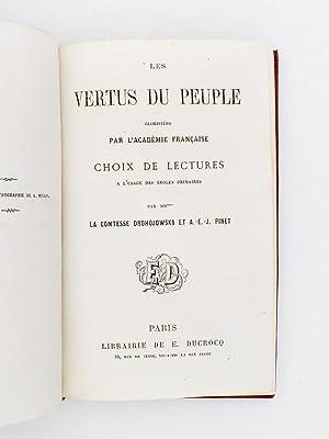 Les vertus du peuple , glorifiées par l'Académie Française - Choix de ...