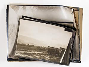 Lot de 11 photographies aériennes [ Fotografia aerea in Italia, 1918 ] : N. Vittorio 17 avril 191...