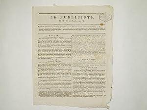 Le Publiciste. Septidi 27 Messidor an VII [ 15 juillet 1799 ] : Retraite de la Calabre et de la ...