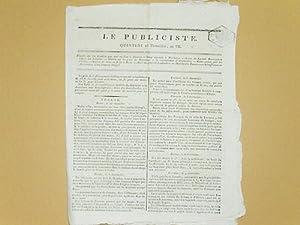 Le Publiciste. Quintidi 25 Thermidor an VII [ 12 Août 1799 ] : Détails sur les ...