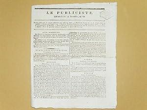 Le Publiciste. Quartidi 24 Thermidor an VII [ 11 Août 1799 ] : Sommes votées par le ...