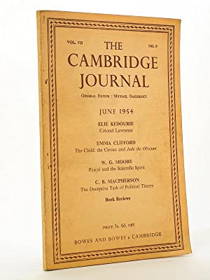 The Cambridge Journal , Vol. VII N° 9, June 1954 [ Copy signed by W. G. Moore ]