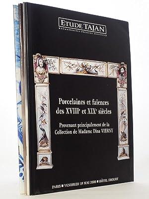 Lot de 5 catalogues de ventes aux: Etude TAJAN, Commissaires-Priseurs