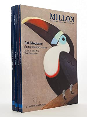 Lot de 4 catalogues d'art moderne, année: MILLON, Maison de