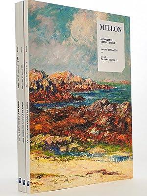 Lot de 3 catalogues d'art moderne, année: MILLON, Maison de