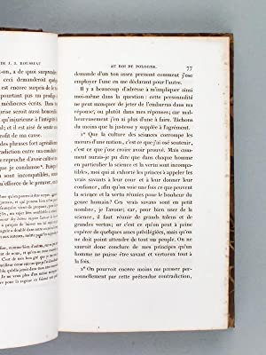 Oeuvres complètes de J. J. Rousseau. T. 1 Discours - Jean-Jacques Rousseau