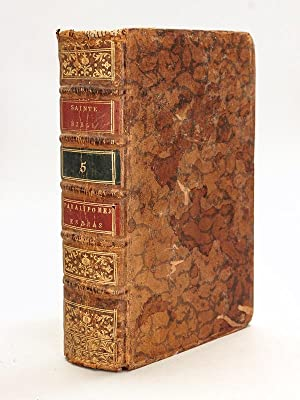 Sainte Bible en Latin et en François,: CALMET, Dom Augustin