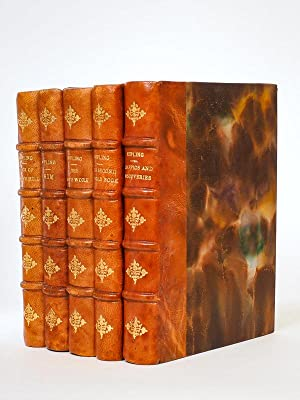 [ Nice set of 5 books, Coll. of British authors, Tauchnitz Leipzig. In leather bindings ] Puck of...