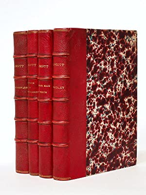 [ Set of 4 books, publ. by Tauchnitz, in shagreen binding ] Waverley or 't is sixty years since ;...
