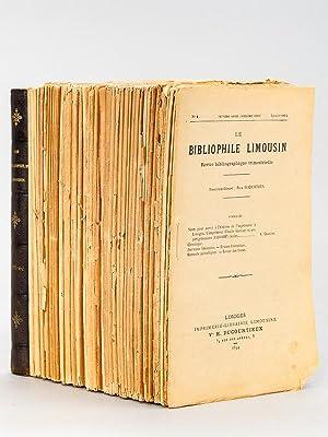Le Bibliophile Limousin , revue bibliographique trimestrielle [ 1893 et 1894 (partiels), 1895 &...