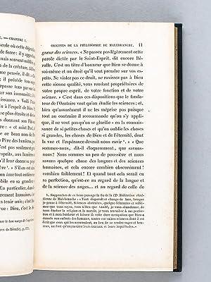 La Philosophie de Malebranche [ 2 Tomes - Complet - édition originale ]: OLLE-LAPRUNE, L�on