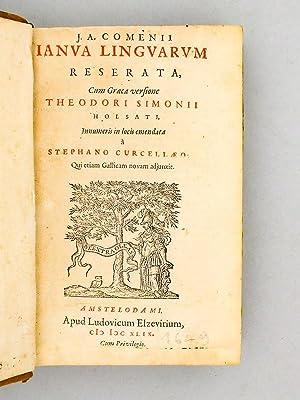 J. A. Comenii Ianua Linguarum reserata [ Janua Linguarum ], cum Graeca versione Theodori Simonii ...