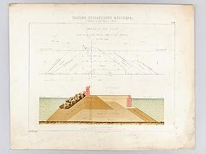 Travaux Hydrauliques Maritimes. Construction du Bassin Napoléon à Marseille. ...