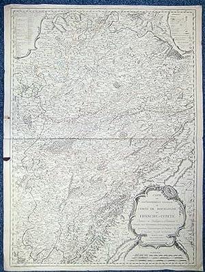 Carte du Gouvernement Général du Comté de Bourgogne ou Franche-Comté. ...