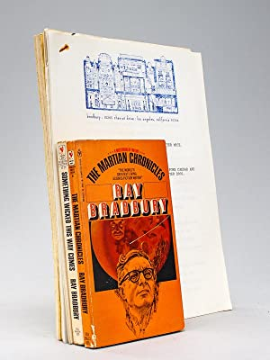 [ Interesting signed letter by Ray Bradbury with articles and one copy of his radio drama Leviath...