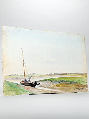Bords de la Charente 1896 [ Aquarelle signée ]
