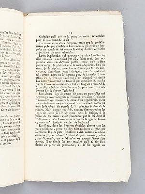 Opinion de François-Agnès Mont-Gilbert, Député du Département de...