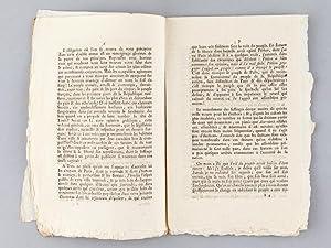 Dernières Réflexions de P. C. L. Baudin, Député par le Dé...