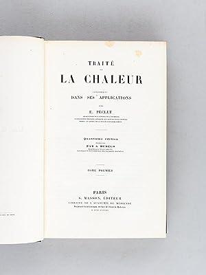 Traité de la Chaleur considérée dans ses applications (3 Tomes - Complet): ...