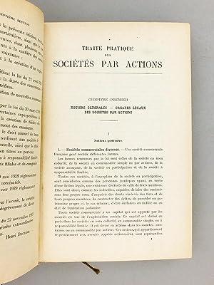 Traité pratique des Sociétés par Actions: DECUGIS, Henri