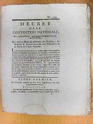 Décret de la Convention Nationale, du 21e jour de Pluviôse, an second de la Ré...