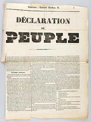 Déclaration au Peuple. [ Déclaration des républicains emmenés par ...