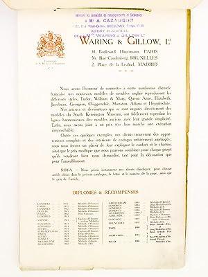WARING & GILLOW Ltd 31 Boulevard Haussmann, Paris [ Catalogue d'Ameublement ]: WARING & ...
