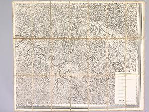 Carte de 1858 au format 72 x 87 cm : Landes, Lot-et-Garonne, Gironde (Tonneins, Marmande, La R&...