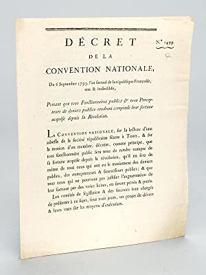Décret de la Convention Nationale, du 6 Septembre 1793, l'an second de la Ré...