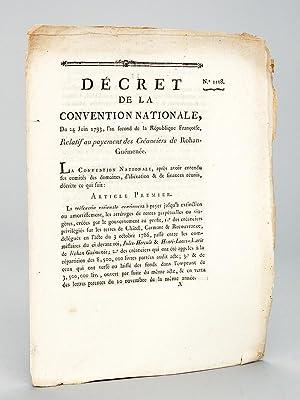 Décret de la Convention Nationale, du 24 juin 1793, Relatif au payement des Cré...