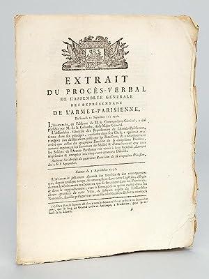 Extrait du Procès-Verbal de l'Assemblée Générale des Repré...