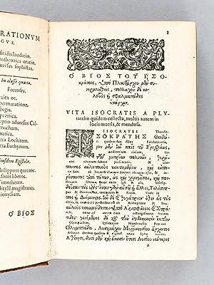 ISOKRATOUS LOGOI KAI EPISTOLAI. Isocratis Orationes et Epistolae cum nova interpretatione, qua ...