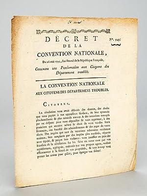 Décret de la Convention Nationale du 26 mai 1793, l'an second de la République ...