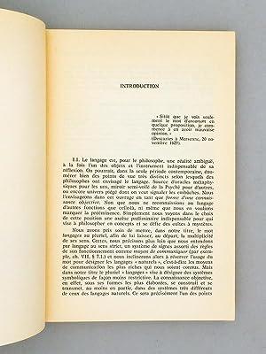 Langages et épistémologie [ Livre dédicacé par l'auteur ]: GRANGER...