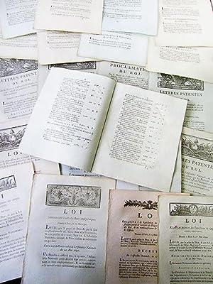 Lot de 23 décrets Révolutionnaires relatif au Finances ] 1e : Lettres patentes du Roi...