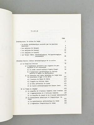 La construction de la notion de temps (3 Tomes - Complet) Tome 1 : Genèse anthropologique de...