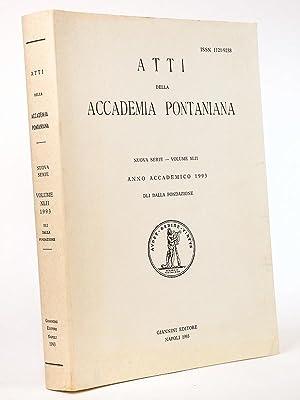 Atti della Accademia Pontaniana. Nuova Serie - Volume XLII. Anno academico 1993: Collectif