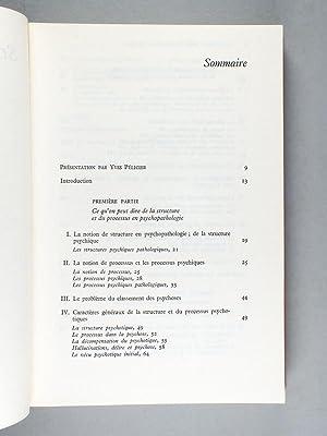 Structure et processus dans la psychose. [ exemplaire dédicacé ]: WIENER,Paul