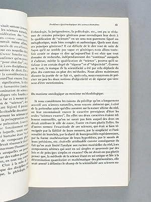 Spécificités des sciences humaines en tant que sciences. Colloque de l'Acad&...
