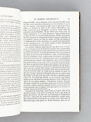 Vie et Aventures de Martin Chuzzlewit par Ch. Dickens (2 Tomes - Complet). Roman anglais traduit ...