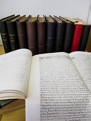 Chartes du Forez antérieures au XIVe siècle. (24 Tomes en 32 Volumes - Complet) Tomes 1 et 2 : ...