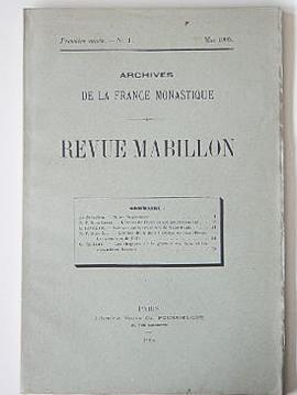 Revue Mabillon. 5 premières années (1905 - 1909).: REVUE MABILLON. Archives de la ...