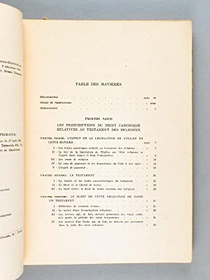 Le Testament des Novices. Les prescriptions du droit canonique et les formalités du droit ...